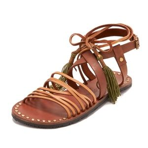 Free People Willow Lace Tie Up Gladiator Sandal 40